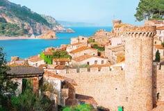 l'espagne Catalunya Tossa de mars Vue aérienne et panoramique des FO Photos stock