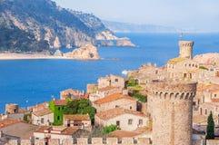 l'espagne Catalunya Tossa de mars Vue aérienne et panoramique des FO Photographie stock