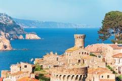 l'espagne Catalunya Tossa de mars Vue aérienne et panoramique des FO Photo libre de droits