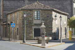 L'Espagne, Galicie, Melide, Camino De Santiago Milestone Images libres de droits