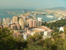l'Espagne - l'Andalousie - Malaga - arène - port Photo libre de droits