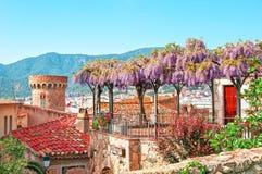 l'espagne Paysage de la ville pittoresque de Tossa de Mar, sur Photo libre de droits