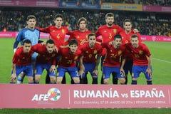 L'Espagne - équipe de football nationale Images libres de droits