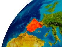 L'Espagne sur le globe Photo libre de droits