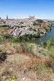 L'Espagne. Toledo sur la rive droite Taho. Image stock