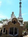 L'Espagne, ville de Barcelone, parc Guell Image libre de droits