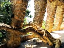 L'Espagne, ville de Barcelone, parc Guell Photo libre de droits