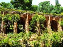 L'Espagne, ville de Barcelone, parc Guell Photos libres de droits