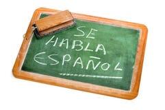 l'espagnol est parlé Photographie stock libre de droits