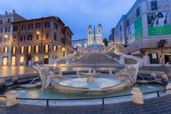 L'Espagnol fait un pas Rome, Italie photos stock