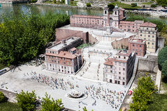 L'Espagnol fait un pas Rome Italie Mini Tiny Photos stock