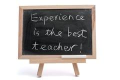 L'esperienza è il migliore insegnante immagini stock libere da diritti
