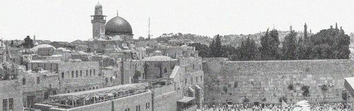 L'Esplanade des mosquées à Jérusalem, Israël Photos libres de droits