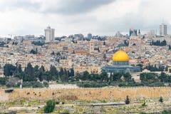 L'Esplanade des mosquées avec le cimetière Images libres de droits