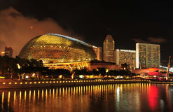 L'esplanade, Singapour Image libre de droits