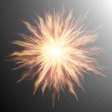 L'esplosione, Big Bang, fuoco ha scoppiato l'ENV 10 Immagini Stock