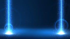 L'esplosione dei cristalli magici stock footage