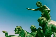 L ` Espoir纪念雕刻在Palavas列斯Flots 库存照片