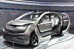 L'esposizione automatica di Deroit montra i veicoli di concetto Immagini Stock