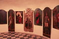 L'esposizione delle icone antiche e delle porte reali Fotografia Stock Libera da Diritti