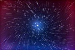 L'esposizione lunga astratta della stella di vortice trascina il fondo Fotografia Stock