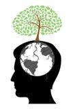 L'esprit de l'homme avec l'arbre Photographie stock libre de droits