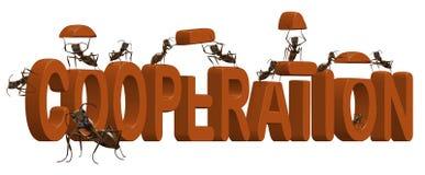 L'esprit de travail d'équipe et d'équipe de coopération coopèrent Image libre de droits