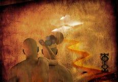 L'esprit modifient la grunge de désert Images libres de droits