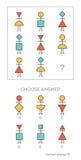 L'essai de QI choisissent la réponse correcte illustration de vecteur