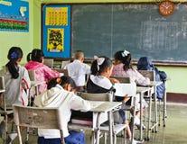 L'essai national des étudiants dans la pente 3 Image libre de droits