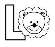 L est pour le lion Image libre de droits