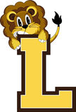 L est pour le lion Illustration Libre de Droits