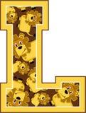 L est pour le lion Illustration de Vecteur