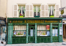 L ` Estaminet restauracja w Chartres, Francja obraz royalty free