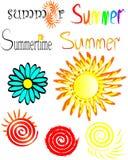 L'estate dell'iscrizione Fotografia Stock