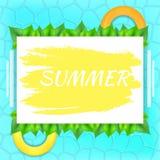 L'estate dell'iscrizione sul rettangolo bianco Fotografia Stock