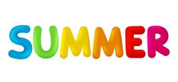 L'estate di parola Immagine di vettore isolata royalty illustrazione gratis