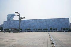 L'estate 2008 di Pechino lo Stadio Olimpico, il centro di nuoto nazionale, Fotografia Stock Libera da Diritti