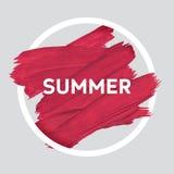 L'estate si rilassa intorno al manifesto acrilico del colpo Iscrizione del testo di un detto ispiratore Modello tipografico del m Immagine Stock