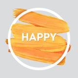 L'estate si rilassa intorno al manifesto acrilico del colpo Iscrizione del testo di un detto ispiratore Modello tipografico del m Fotografia Stock Libera da Diritti
