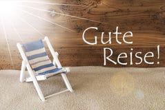 L'estate Sunny Greeting Card, Gute Reise significa il buon viaggio Fotografia Stock Libera da Diritti