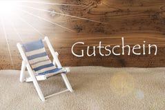L'estate Sunny Greeting Card, Gutschein significa il buono Immagini Stock Libere da Diritti