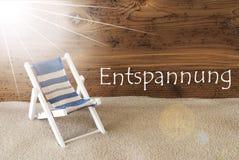 L'estate Sunny Greeting Card, mezzi di Entspannung si rilassa Fotografia Stock