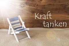 L'estate Sunny Greeting Card, mezzi di Kraft Tanken si rilassa Fotografia Stock Libera da Diritti