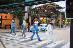Él estatua de la fibra de vidrio del paso de cebra de Beatles Abbey Road Fotografía de archivo
