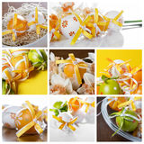 L'estere eggs il collage fotografia stock