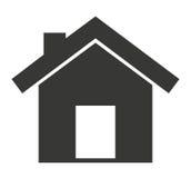 l'esterno della casa ha isolato la progettazione dell'icona illustrazione vettoriale