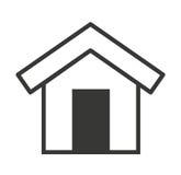 l'esterno della casa ha isolato la progettazione dell'icona royalty illustrazione gratis