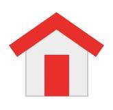 l'esterno della casa ha isolato la progettazione dell'icona illustrazione di stock