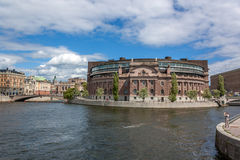 L'esterno di costruzione di Riksdag Fotografia Stock Libera da Diritti